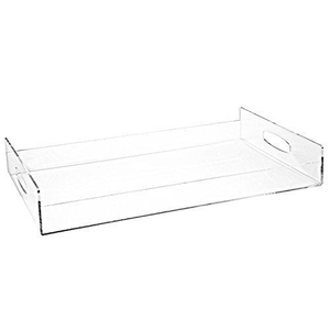 Clear Acrylic Serving Tray Breakfast Trays with Handles