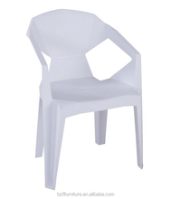 Cheap Outdoor Stackable PP Mould Plastic Patio Dining Chair With Armrest