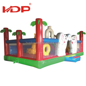 Popular Design Commercial Jumping Kids Giant inflatable castle slide For Sale