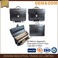 China wholesale fashion laptop briefcase high quality cheap Pu leather laptop bag