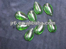 Creative Green Tearshaped Glass Beads for Sale for Clothes