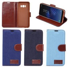 Low MOQ Available High Quality Jean Style Flip Case for Samsung Galaxy S8