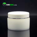 Empty plastic pp breast tight cream jar with screw lid for persoanl care