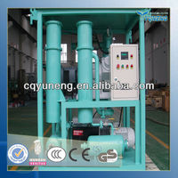 black dirty engine oil cleaning machine mobile type (ZJ)