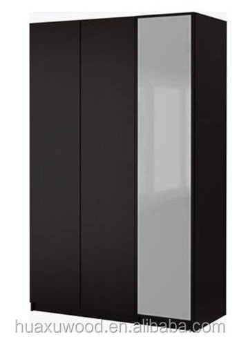 HXDL141223-05 Huaxu bedroom furniture type wooden wardrobe cabinets with mirrors
