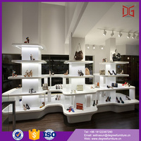 good quality luxury retail women shoe store inside display stand cabinet for shoe