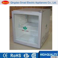 Display Beer Cooler, Hotel Glass Door Mini Bar Fridge For Food And Beverage