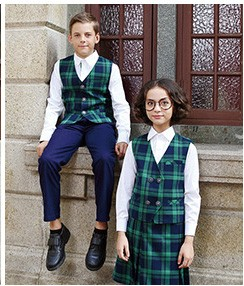 Custom New Style Custom Navy Blue Private School Uniform Pleat Skirt
