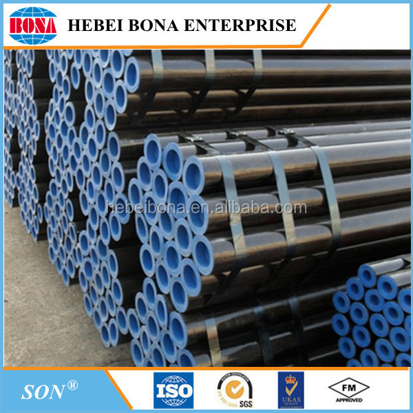 Best Selling black painted A106 carbon steel seamless pipe