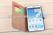 Flip Leather ID Card Wallet Case Cover Stand For Samsung Galaxy Note 2 II N7100