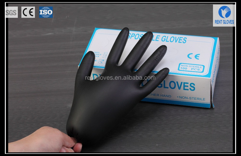 Bulk Disposable Gloves Nitrile No Powder Price Manufacturer Nitrile Gloves Rubber