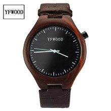 Manufacture customized handmad nature wood watch , Sandalwood wooden wrist watch