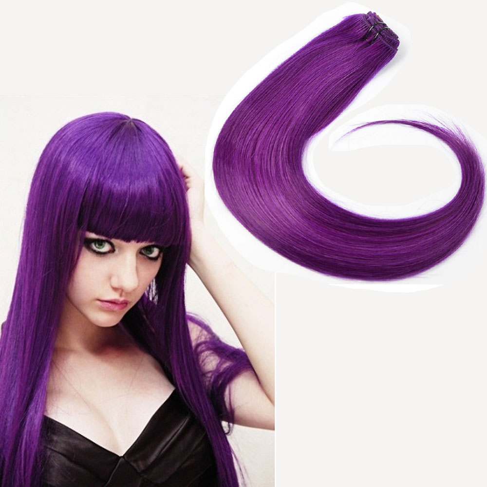 Wholesale purple hair extension clips online buy best purple high quality colorful stronghairstrong strongpurple pmusecretfo Image collections