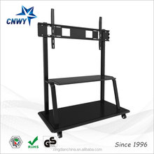 school using iron pipe swivel tv stand for all-in-one touch display