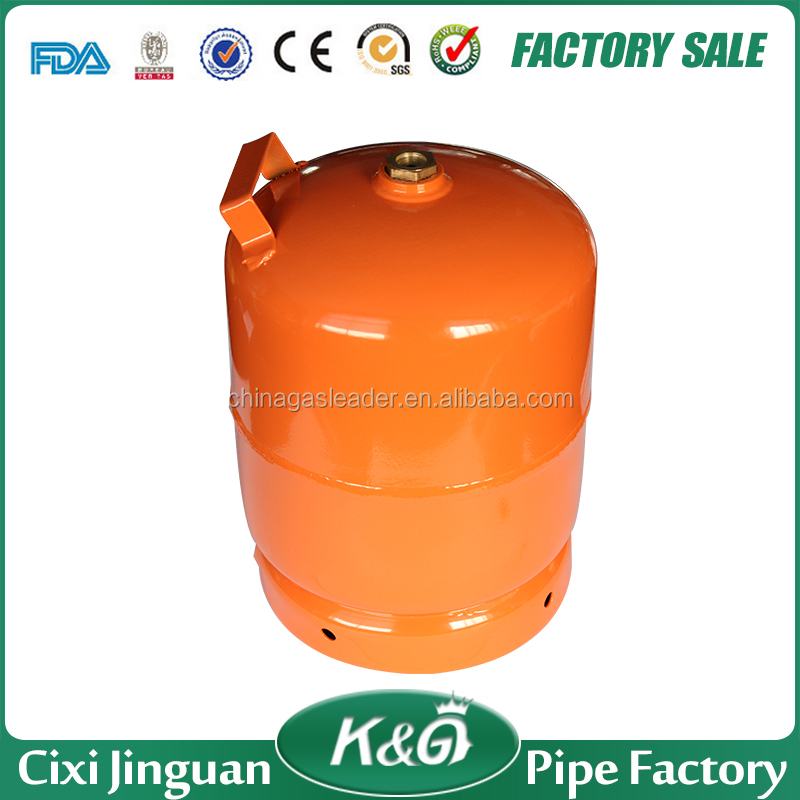 Nigeria LPG gas cylinder 5kgs propane gas bottle price with M16*1.5 brass valve