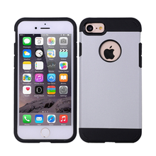 2 in 1 pc+silicone hybrid cell phone case for apple iphone 7