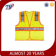 2017 high visibility clothing EN20471 or ansi polyester motorcycle vest