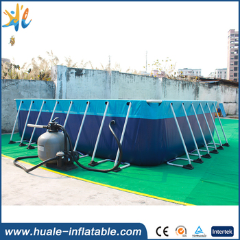 New design above ground removable swimming pool detachable metal frame pool for sale