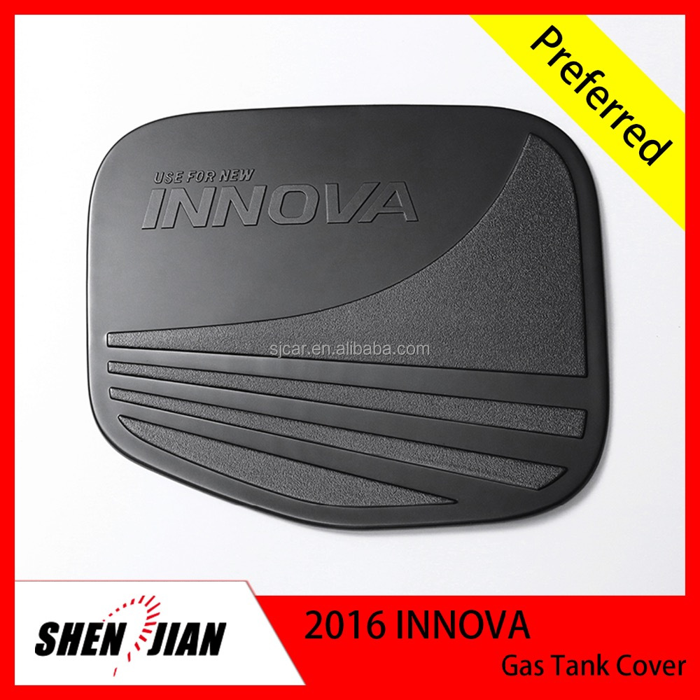 High quality car accessories Toyota 2016 INNOVA NEW Car exterior Gas Tank Cover,black higher ABS plastic gas tank cover