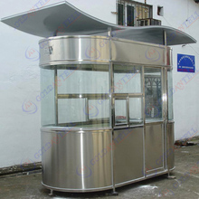 High quality stainless steel box type shed house sentry box light steel kiosk for sale