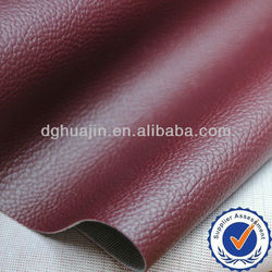 Red color PVC Upholstery Leather for Sofa