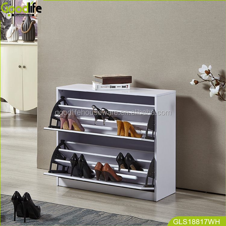 Goodlife new design and elegant appearence mirror shoe rack saving space furniture