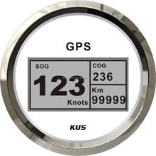 85mm digital GPS speedometer, speedo GPS speedometer for boat yacht marine white faceplate 12V/24V