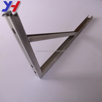 OEM ODM factory manufacture through a strong test canopy bracket triangular aluminum support as your drawing