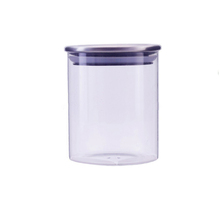 Small Goods Storage Canister with Lid Glass Stash jar cookie jar