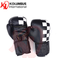 Cowhide Leather Boxing Gloves, Customized Chess Pattern Design Boxing Gloves