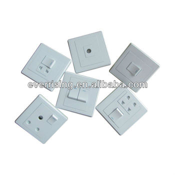 High quality 250V 13A composite silver PC wall switch and socket