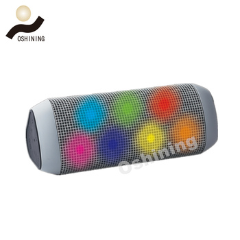 OEM multicolor LED light triangle mini portable bt speaker wireless charger