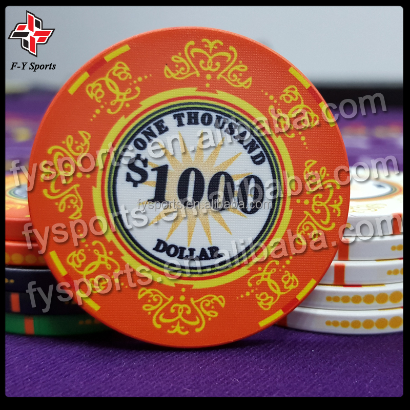 customized professional casino standard tournament ceramic chip/ceramic chip/ceramic poker chip
