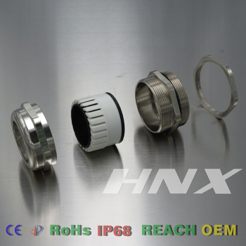 HongXiang High precision brass cable gland with strain relief metric