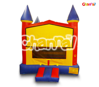 Channal Commercial Cheap Inflatable Primary Color Castle Module/Inflatable Jumping Bouncer