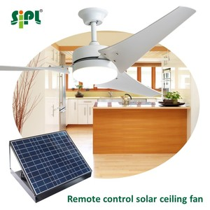 5 year warranty 60 inch remote control dc brushless copper motor outdoor indoor solar panel ceiling fan kit with light