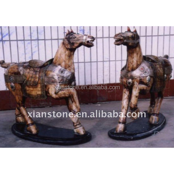 hand carved ox bone carvings ivory horse