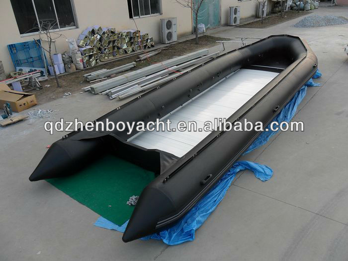 20 persons 1.2mm PVC Aluminum floor 850 air inflatable boat