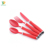 Color painting Stainless Steel Red Cutlery Set with Powder coating Red plastic handle