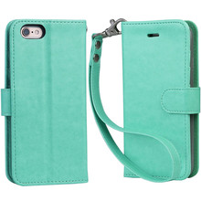 High Protective PU Soft Flip Leather Phone Case For iPhone 8 , Cell Phone Case For iPhone 8 Wallet Phone Case