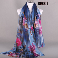 New selling good quality silk cotton scarf for wholesale