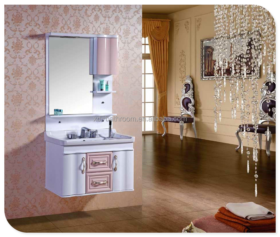 Customized quality&designs pvc vanity bathroom modern style for wholesale