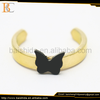 ring stainless steel accessories jewelry animal butterfly lady ring