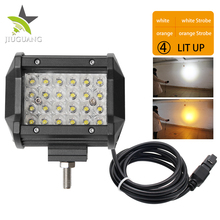 Wholesale Strobe Flash Dual Color Light Waterproof Super Bright CE ROHS 4inch IP67 36W 4D Led Work Light For Truck Motorcycle