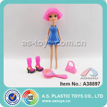 "9"" Plastic Beauty Big Eyes Girl Doll For 2014"