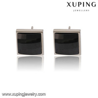 91784-xuping high quality square white single stone steel stud earrings designs