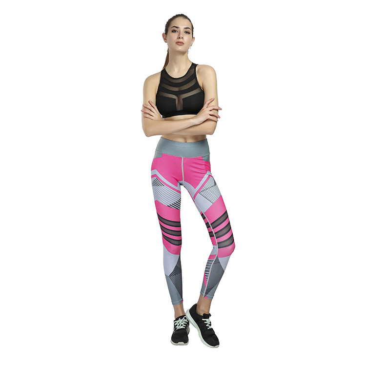 Wholesale top quality Gym Polyester Spandex Fitness Custom Printing Tights Always Yoga Sport Leggings For <strong>Women</strong>