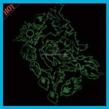2015 new design glow in the dark temporary tattoo custom