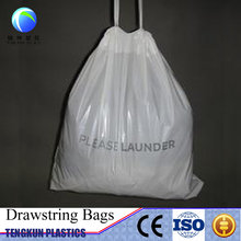 laundry & dry cleaning bag drawstring plastic bags