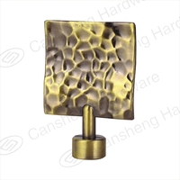 Decorative curtain rods square metal finials
